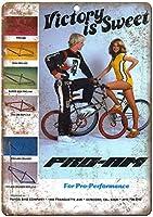 プロam BMXフレームレーシングヴィンテージティンサインの装飾ヴィンテージ壁金属プラークレトロアイアン絵画カフェバー映画ギフト結婚式誕生日警告