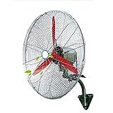 KMMK Home Electric Fan,Industrial Pedestal Fan 380W Wall Fan Cooling, Quiet Oscillating Industrial High Power Fan, 3 Speed Settings, for Office Commercial and Restaurant Heavy Duty