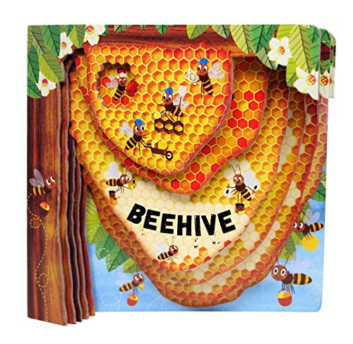 Beehive (Happy Fox Books) One-of-a-Kind Board Book Teaches Kids Ages 2 to 5 about Bees  Flying into a Hive with Every Turn of the Page  plus Educational Facts  Vocabulary Words  and More (Peek Inside)