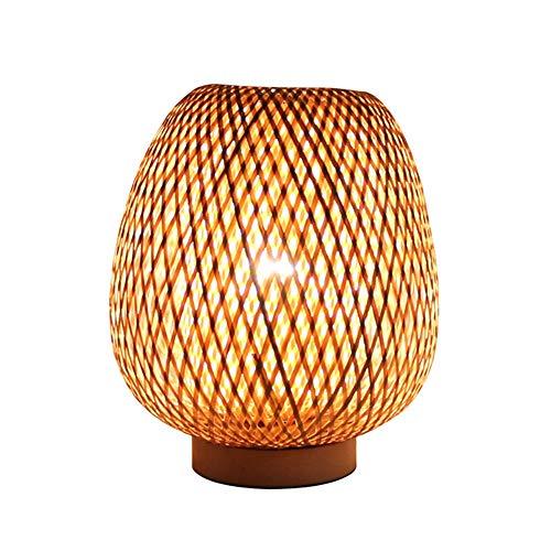 YAP La Tabla Creativa De La Lámpara De Bambú Hecha A Mano Lámpara De Escritorio De La Rota Pantalla De Iluminación Adecuado para El Dormitorio Sala De Estar Decoración del Hogar De La Luz, 110-240