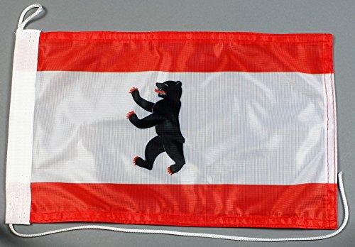 Buddel-Bini Bootsflagge Berlin 20 x 30 cm in Profiqualität Flagge Motorradflagge
