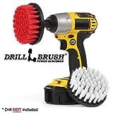Prodotti per la Pulizia - Drill Brush - Grout Cleaner - Soft White/Stiff Spin Red Brush Combo - Barca, Auto, Camion - Scrub Brush - alghe, Muschi, Muffa e Muffa - Statue da Giardino - Granito