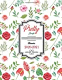 "Pretty Simple Planners 2020-2021: | Weekly & Monthly Planner 2020-2021 | Flower Watecolor Cover  | 8.5"" x 11"" 