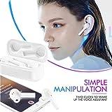 JINLO Wireless Bluetooth Headset Auriculares Traductores Dialogues Al Mismo Tiempo Alta Fidelidad Es...