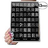 VAGA nail art supplies Jumbo nail stamping kit Collection has hundreds of fingernail