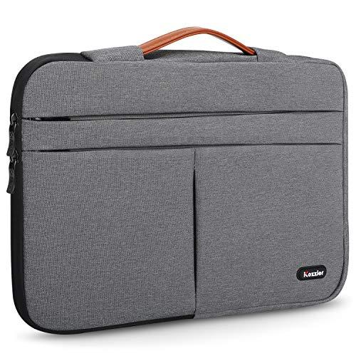 iCozzier - Custodia per computer portatile con manico da 13 a 14', con tasca frontale multipla per MacBook Air/MacBook Pro/Pro Retina da 14', colore: Grigio