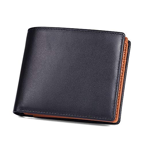 (ボックス小銭入れ)財布 メンズ 二つ折り レザー 本革 牛革 カード18枚収納 大容量 一流の財布職人が作る ビジネス ギフト