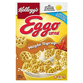 Kellogg s Eggo Maple Syrup Cereal 320g/11.3 oz box {Imported from Canada}