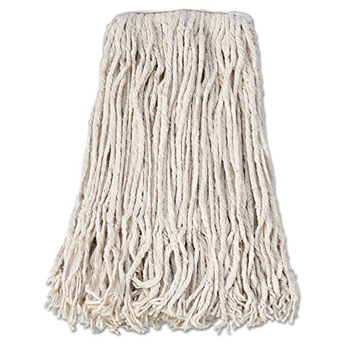 Boardwalk CM02024S Mop Head, Cotton, Cut-End, White, 4-Ply, #24 Band (Case of 12)