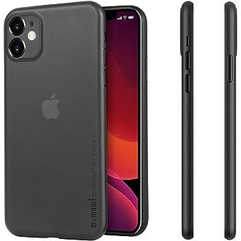 MEMUMI para iPhone 11 Funda Ultra Thin Protectora Trasera con Matte Finish Coating Carcasa Funda para iPhone 11 2019 Case Anti-Rasguño y Resistente Huellas (Negro Mate Translúcido)