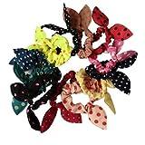 RuiChy Estilo coreano bonito lazo para diadema coleta soporte para el pelo multicolor