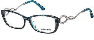 روبرتو كافالي RC5010 - 092 إطار نظارة أزرق مع عدسة تجريبية شفافة 54 ملم