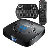 Android TV Box 10.0 4GB RAM 64GB ROM Set Top Box Smart TV Box Allwinner H616 1080P Ultra HD 4K 6K HDR WiFi 2.4G 5.8GHz BT 4.1 TV BOX Android con Mini Tastiera Senza Fili Retro Illuminata