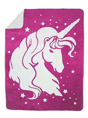 Moon Kuscheldecke Wolldecke Wohndecke Baumwolldecke Einhorn 150x200 (pink)