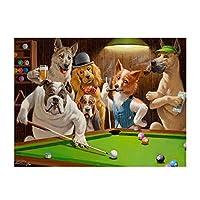 キャンバスに印刷クリエイティブ漫画動物の犬がキャンバスの絵のポスターを再生リビングルームの家の装飾のための壁の芸術を印刷する40x60cmフレームレス