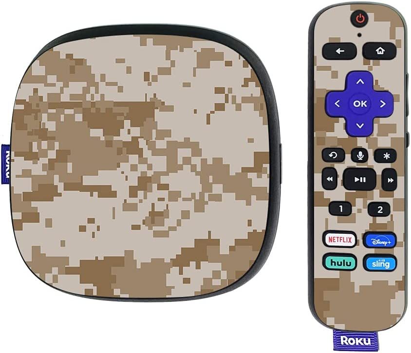MightySkins Skin Compatible with Roku Ultra HDR 4K Streaming Media Player (2020) - Desert Camo | Protective, Durable, and Unique Vinyl Decal wrap Cover | Easy to Apply | Made in The USA