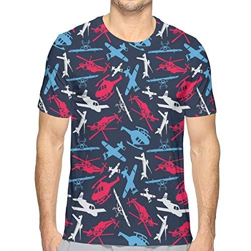 3D gedruckte T-Shirts, Verschiedene Luftschiff- und Hubschrauber-Schattenbild-Jungen entwerfen