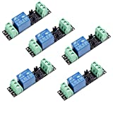 1 Channel DC 3V Relay High Level Driver Module Optocoupler Relay Module Isolated Drive Control Board for Arduino (Pack of 5)