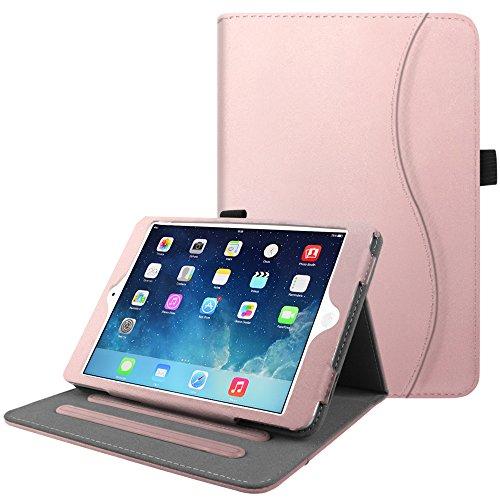 Fintie Case for iPad Mini/Mini 2 / Mini 3 [Corner Protection] - [Multi-Angle Viewing] Smart Stand Protective Cover with Pocket, Auto Sleep/Wake for Apple iPad Mini 1 / Mini 2 / Mini 3, Rose Gold