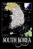 South Korea: Map of South Korea Notebook
