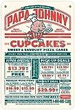 OSONA Papa Johnny Cupcakes Retro Nostalgic Traditional Rust Color Tin Logo Advertising Striking Wall Decoration Gift