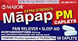 Mapap PM Extra Strength Caplets 500 mg By Major 3 Boxes of 50 Each