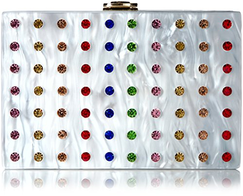 MILLY Rhinestone Box Clutch, Multi