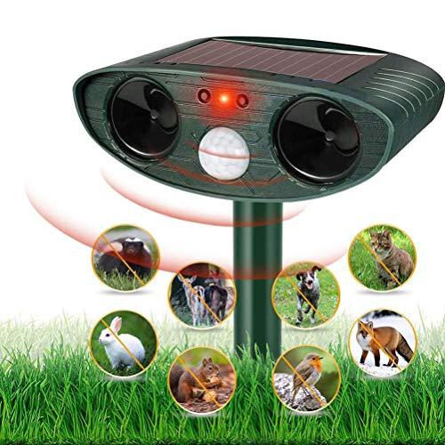buycheapDG(JP) 動物撃退器 害獣撃退 超音波 ソーラー 猫よけ 充電式 超音波 害獣対策 猫犬 退治 防水防塵 簡単設置 猫、犬、ネズミ、キツネ、ハト、カラス、コウモリ、げっ歯類など対応 野生動物対策器