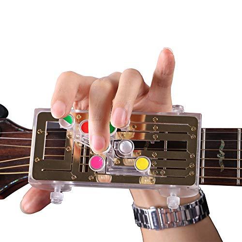 Chord Buddy Gitarren Lernsystem, LUXACURY Gitarren Akkord Übungswerkzeug Gitarren Lernsystem Lehrhilfe mit neun Universalakkorden für Trainer Anfänger