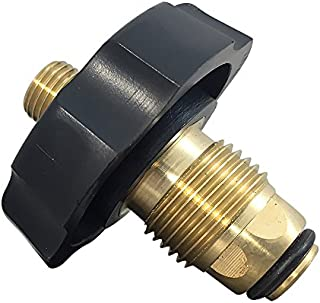 MADOL Soft Nose POL Excess Flow Regulator LP Gas Propane Tank Connector w/ Oring for secondary seal brass nipple to open safety valve in male cylinders milled construction 24 PACK[06CMPP/LN14-24]