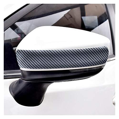 MMGANG DIY PVC Fibra de Carbono 250 cm x 5 cm Pedal de la Puerta del Coche Pegatina para el Parachoques Anti colisión Pegatina de protección de fricción