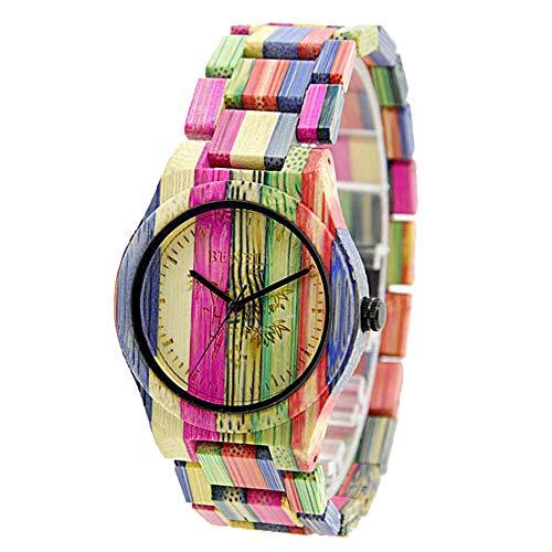 Orologio da uomo in legno di bambù, regalo di San Valentino per lei BEWELL...