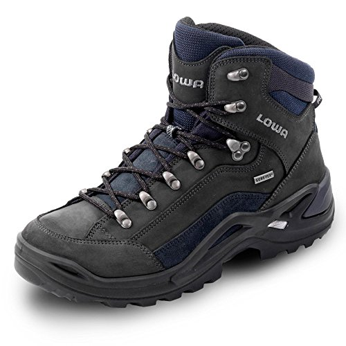 Lowa Herren Renegade GTX Mid Outdoor Schuhe, dark grey/navy EU 46