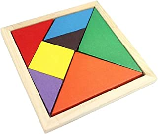 Supernoor DIY Wooden Puzzles Toy Multicolour 5x9x1cm