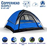 Gigatent Unisex's 6x5 Copperhead 2-Person Camping Dome Tent x 7 ft, Blue, One size