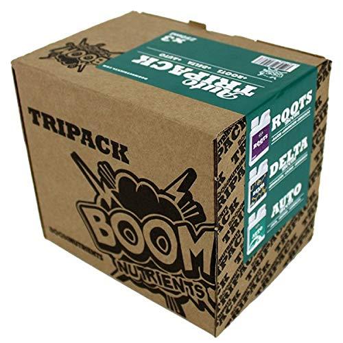 Boom Nutrients   Kit de fertilizantes para autoflorecientes/Pack de cultivo Cannabis   Auto Tripack