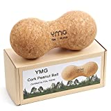 YMG Ultralight Cork Peanut Massage Ball, Natural Cork Eco-Friendly Peanut Massage Tool, Yoga Therapy for Myofascial Release, Trigger Point Therapy, Muscle Knots, Deep Tissue Massage, Tension Relief