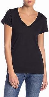 Alternative Womens Tee T-Shirt Black US Size XXL V-Neck Solid Stretch