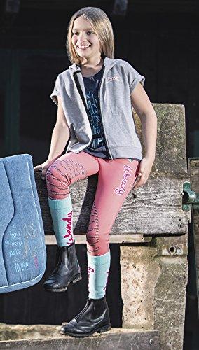 HKM 9978 Wendy Chaussettes d'équitation Unisexe pour Enfant Taille Unique Turquoise/Aqua.