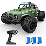 Holyton RC Cars 48+KM/H High Speed Remote Control Car 3 Batteries 60 Min Play, 4WD Monster Truck 1:18 Scale Crawler Vehicles All Terrains Off Road Gift Toys for Boys, Adults
