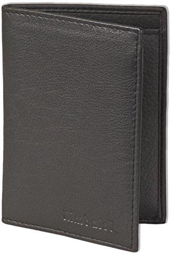 Rimbaldi® Ausweis-/Kreditkartenetui für 6 Kreditkarten und 4 Ausweise aus weichem, naturbelassenem Rindsleder in Schwarz