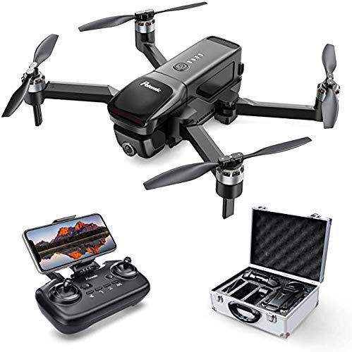 ZBHWYD Drone de fotografía aérea, 4K FHD para Principiantes, Drone DE FPV GPS D68, Quadcopter Plegable con Motor sin escobillas, 25 Minutos Tiempo de Vuelo, Incluyendo Estuche