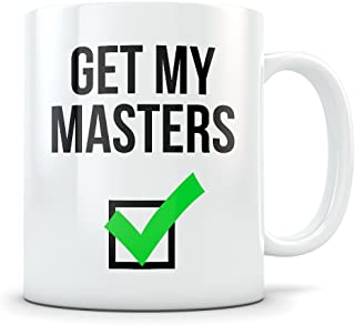Masters Graduation Gifts - Coffee Mug Congratulations Gift for Graduates with Masters Degrees - Funny Gift Idea for School Students Graduating from Masters