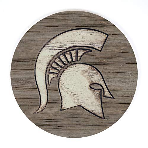 P. Graham Dunn Michigan State University NCAA Team Logo 17 x 17 Wood Barrel Top Sign