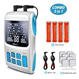 Best Tens Ems Units - Professional 3-in-1 Tens Unit, Ohuhu FDA Cleared TENS Review