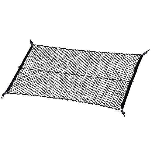 MICTUNING Upgraded 41 x 30 Inch Cargo Net Auto Trunk Rear Cargo Organizer Elastic Mesh Net Holder - Universal Fit for SUV Truck Mini Vans