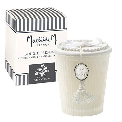 Mathilde M : Coffret Bougie Parfumée Les Intemporels - Parfum d'Ambiance (Fleur de Coton)