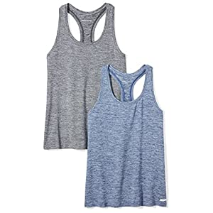 Fashion Shopping Amazon Essentials Women's 2-Pack Tech Stretch Racerback Tank Top