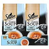 Sheba Classic Soup, Katzenfutter als Snack zur Ergänzung, Für den Saucen-Liebhaber