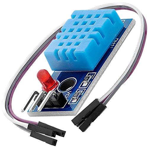 AZDelivery DHT11 Breakout Modulo Sensor de Temperatura y Humedad con Placa y Cable con E-Book incluido!
